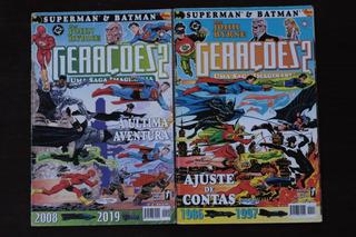 Hqs Geraçoes 2 Superman E Batman Nº3 E 4 Opera Graphica