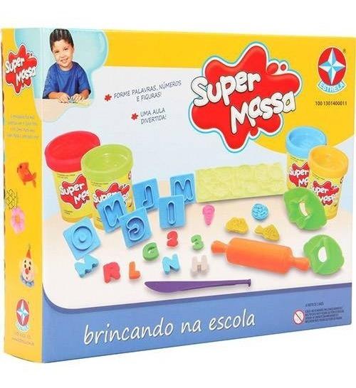 Super Massa Brincando Na Escola Massinha Modelar - Estrela