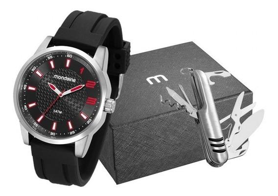 Relógio Mondaine Masculino Silicone Preto 53526g0mvni1k1