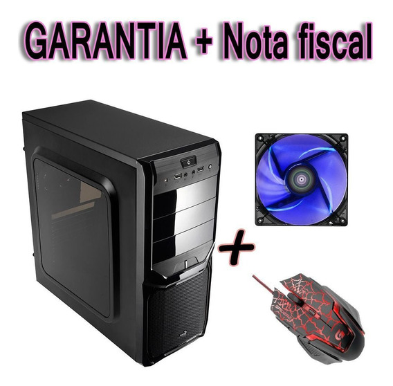 Gabinete Pc Simples Acrilico + Cooler Fan 120mm + Mauser Top