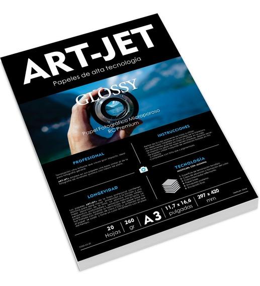 Papel Fotográfico Rc Ultra Glossy Art-jet® 260g A3 20h