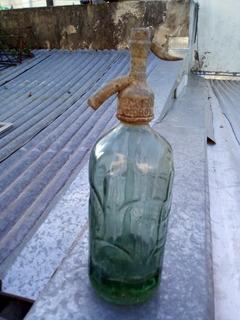 Antigua Soda Vidrio Verde Claro Relieve 800 C3 De Moron