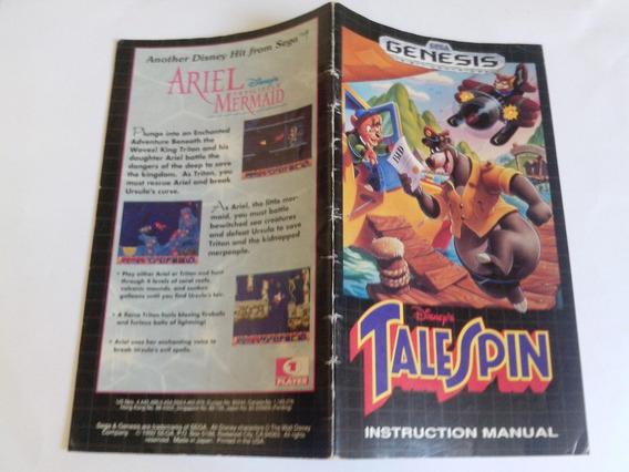 Manual Tale Spin - Usa - Mega Drive - Original !