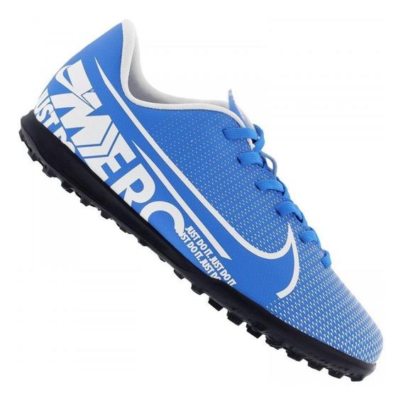 Chuteira Society Nike Vapor 13 Club Ic Azul /branco Juvenil