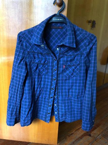 Camisa Cuadrille Levis Talle Xs (u) Azul