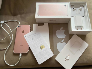 iPhone 7 Rose, 32 Gb, Sem Danos/riscos. Acessórios Originais