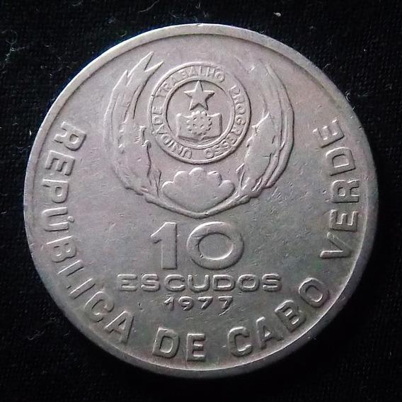 Cabo Verde 10 Escudos 1977 Mb Km 19 Eduardo Mondlane
