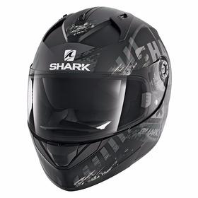 Capacete Shark Ridill Mod 17 Skyd Preto Fosco Viseira Solar