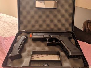 Pistola Airsoft Springer Glock G7 Kwc + 2000bbs + Maleta