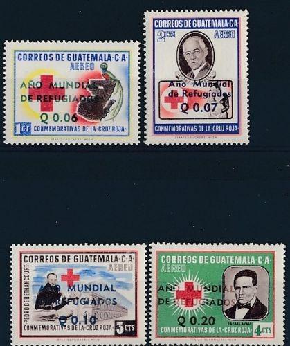Guatemala 1960 Cruz Roja Refugiados Serie Completa Mint