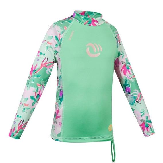 T-shirt Olaian Infantil Com Proteção Solar Uv50+ Verde Flori