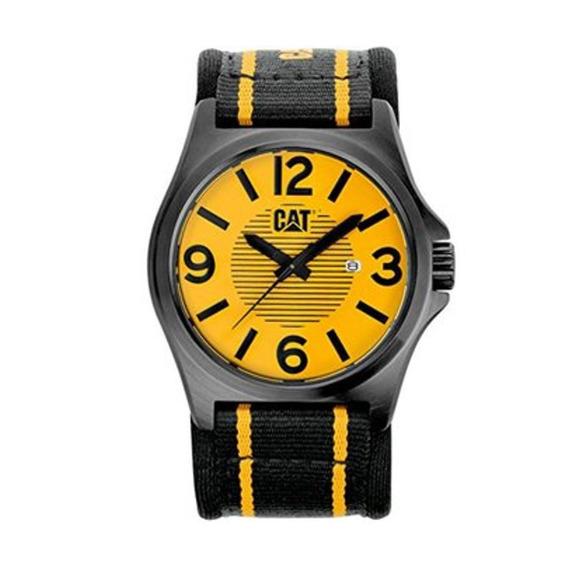 Reloj Hombre Cat Dp Xl Negro Y Amarillo