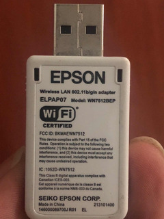 Adaptador Wifi Usb Para Video Beam Epson Rebajado Black Week