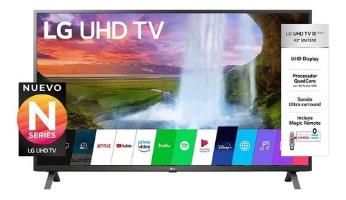 Imagen 1 de 10 de Led Tv 43  LG 43un7310 Smart Ultra Hd Hdmi Usb Sint Tda