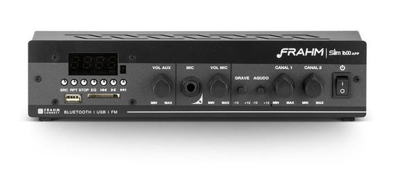 Amplificador Som Ambiente Frahm Slim 1600 App Bluetooth