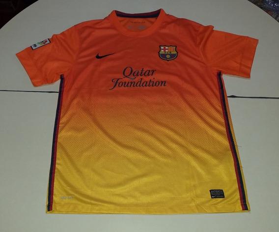 Barcelona Naranja Y Amarilla Marca Nike #10 #messi Talle Xl