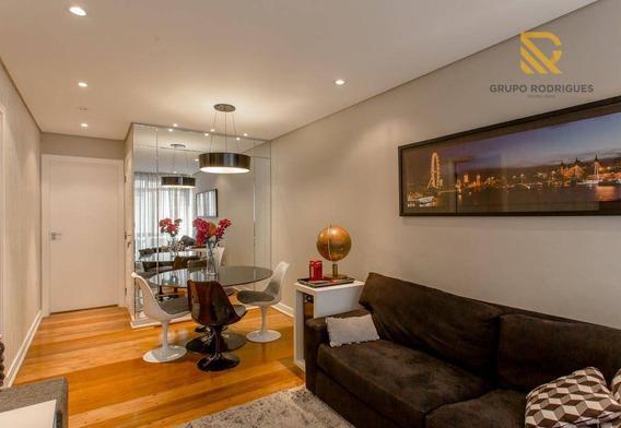 Apartamento Com 3 Dormitórios À Venda, 85 M² Por R$ 820.000 - Itaim Bibi - São Paulo - Ap0368