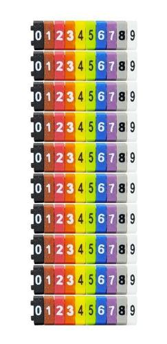 Imagem 1 de 3 de Identificador De Cabos Anilha De Marcação Kit C/ 100 Peças