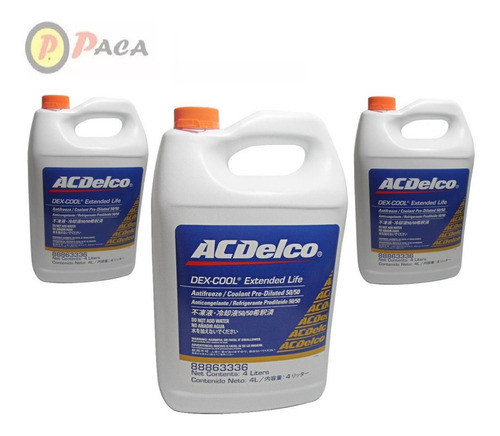 Refrigerante Acdelco Original Naranja  50/50