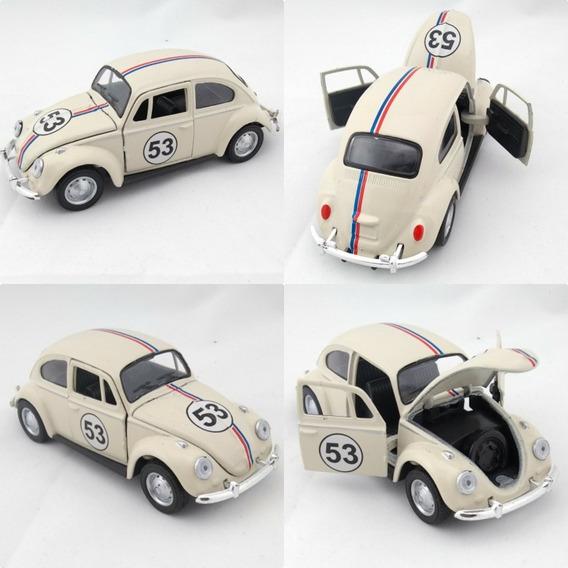 Miniatura Fusca Herbie 1968 Escala 1:32
