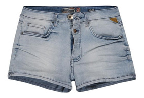 Shorts Jeans Stretch Cintura Alta