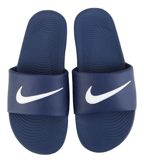 2 Pares Chinelo Nike Kawa Slide Preto Azul Original +nfe