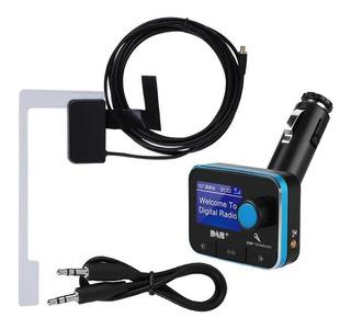 Dab/dab+ Receptor Fm Transmisor Coche Reproductor Bluetooth