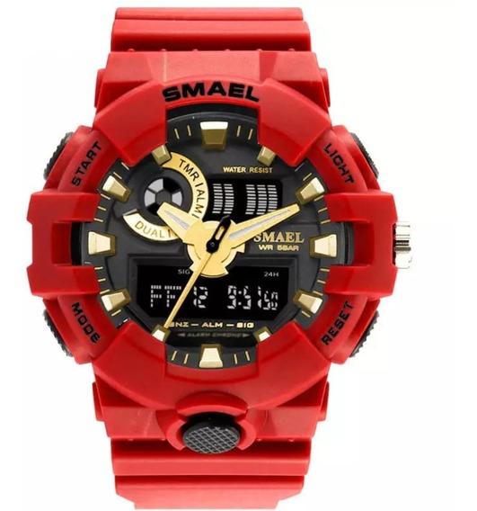 Relógio Masculino Smael 1642 Esportivo Digital Prova D