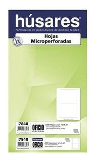 Resma Oficio Husares 7848 Microperforado Al Medio 500 Hojas
