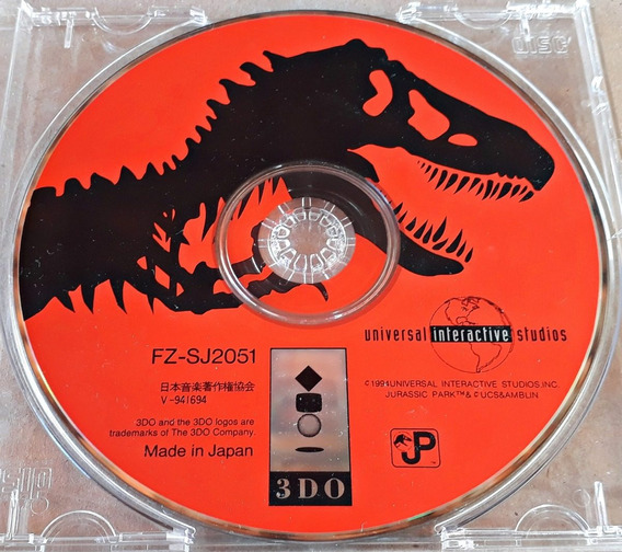 Jogo Jurassic Park Interactive Panasonic 3do Original Japonê