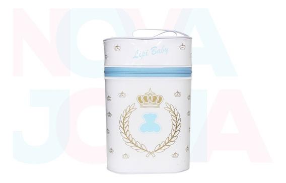 Porta Mamadeira Protetor Térmico Duplo Lipi Baby Urso Azul