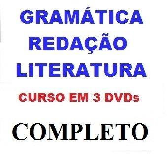 Aulas De Redação + Literatura + Gramática Curso Em 3 Dvds Rt