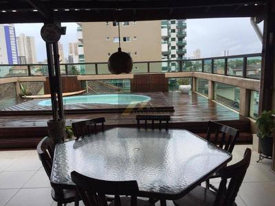 Cobertura Com 3 Dormitórios À Venda, 190 M² Por R$ 430.000 - Vila Guilhermina - Praia Grande/sp - Co0026
