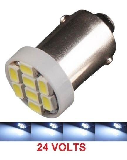 Kit 100 Lampada Ba9s 8 Led 24v Branca T4w 69 Atacado