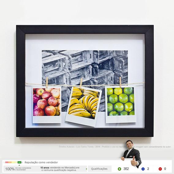 Quadro Caixa - Frutas Feira Livre Mercado Loja Decoração Nc