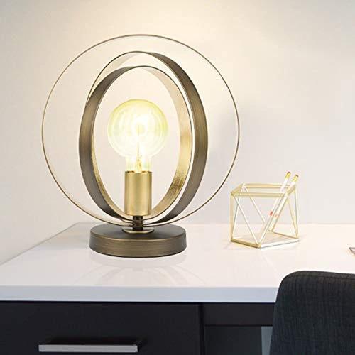 Brinlheart Globo Lampara De Mesa De Metal Industrial, Lamp