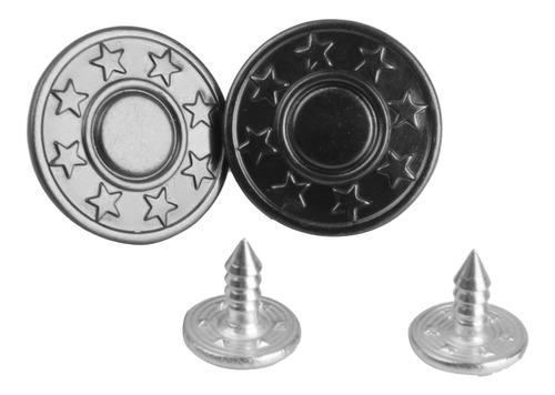 Imagen 1 de 11 de 50 Sets Vintage Star Jean Tack Botones De Metal De 17 Mm