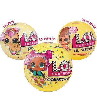 Muñecas Lol Combo 1 Confetti Pop + 1 Lil Sister +1 Pets