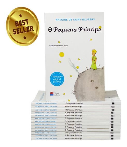 Livro O Pequeno Principe Capa Classica Com Aquarela