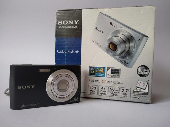 Câmera Digital Sony Cyber Shot 12.1 Megapixel Preta