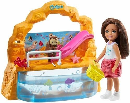 Imagem 1 de 8 de Boneca Barbie Club Chelsea E Aquário Playset Nova 2020