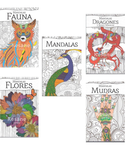 Imagen 1 de 7 de Paquete Mandalas Libro Relajacion Colorear Iluminar Terapia
