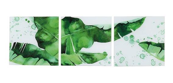 Conjunto 3 Quadros Green