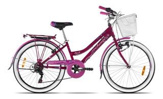 Bicicleta Aurora Rodado 24 Ona Nena Nene Infantil