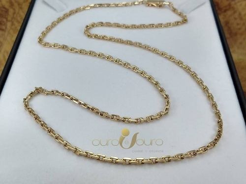 Cordão Cartier Masculino Ouro 18k Maciço Fecho Gaveta 3824