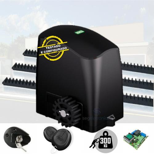 Imagem 1 de 6 de Kit Motor Para Portão Eletrônico Deslizante 1/5 Rcg 300kg