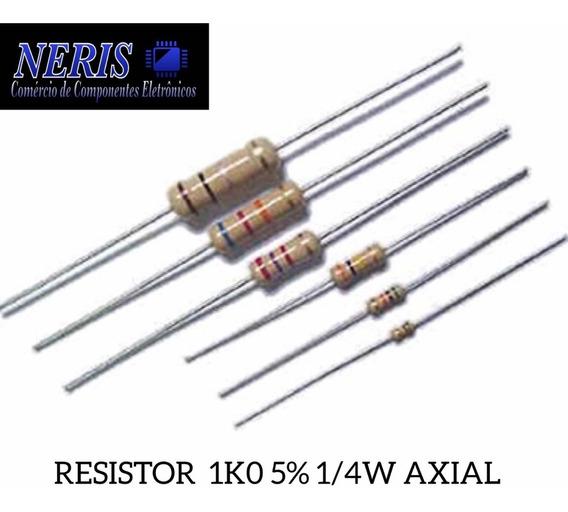 Resistor 1ko 1/4w 5% Axial (41 Pç.)