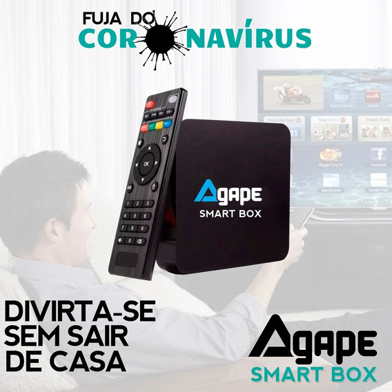 Conversor Smart Box Tv 16gb Cor Preto Ram 3gb Android