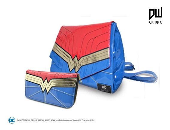 Combo Dc Wonder Woman: Mochila Y Billetera