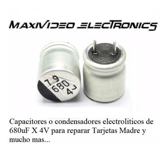 Capacitor Condensador 680uf 4v Solido Metal Calidad (0.8$)
